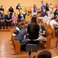 Школьники Лениинского района Бреста играли в области правовой брейн-ринг